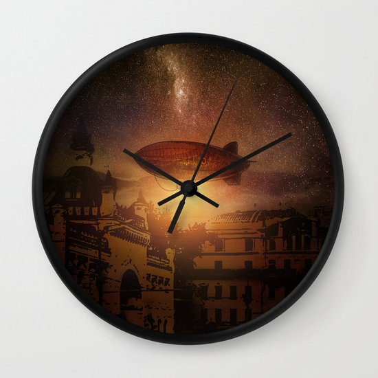 A Trip down the Sunset II Wall Clock