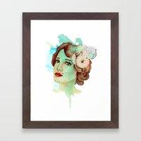 retro woman 2 Framed Art Print