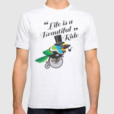 Life is a Beautiful Ride Mens Fitted Tee Ash Grey SMALL