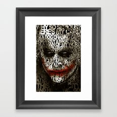 Halloween Psycopath Clown Typograph apple iPhone 4 4s 5 5s 5c, ipod, ipad, pillow case and tshirt Framed Art Print