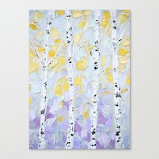 October Birch Canvas Print