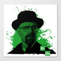 Breaking Bad Green Canvas Print