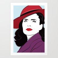Nagel Style Carter Art Print