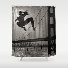 Spider-Man Walk Shower Curtain