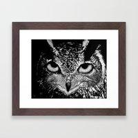My Eyes Have Seen You (Owl) Framed Art Print