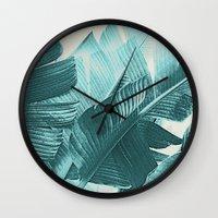 Banana Palm Wall Clock