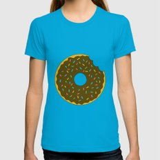 Chocolate Donut Womens Fitted Tee Teal SMALL