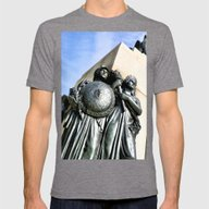 American Strength Mens Fitted Tee Tri-Grey SMALL