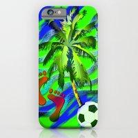Soccer on the beach iPhone 6 Slim Case