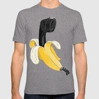 Banana Phhhhone Mens Fitted Tee Tri-Grey SMALL