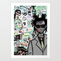 tribute to the late great basquiat. Art Print