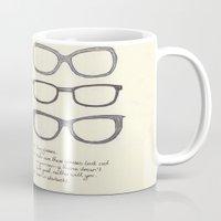 Hipsters Wear Frames, illustrated Mug