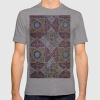 Geometric Wall Pattern Mens Fitted Tee Athletic Grey SMALL