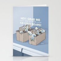 Ice Cold Bears Stationery Cards