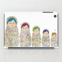 Rainbow Matryoshka Nesting Dolls iPad Case