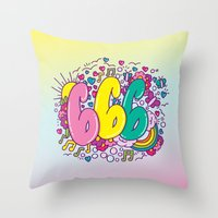DAILY DRAWING NUMBER 666 Throw Pillow