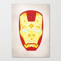 Day Of The Dead Iron Man Canvas Print