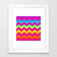 Rainbow Zig - Zag Framed Art Print