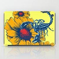 Scorpion Flowers iPad Case