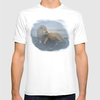 LEO the LION Mens Fitted Tee White SMALL