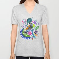 Bird Botanical Unisex V-Neck