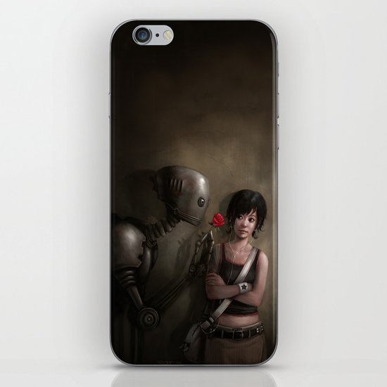 Robot In Love iPhone & iPod Skin