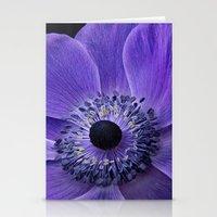Purple Anemone Stationery Cards