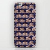 Blue & Peach Daisies iPhone & iPod Skin