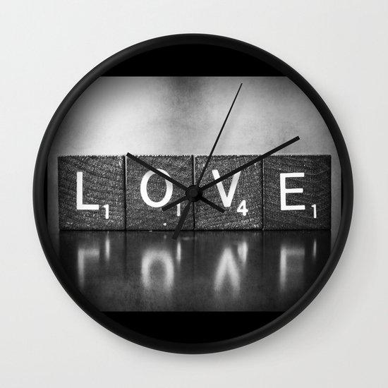 Love is a Beautiful Word - a fine art photograph Wall Clock