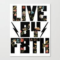 LIVE BY F8TH FLORAL Canvas Print