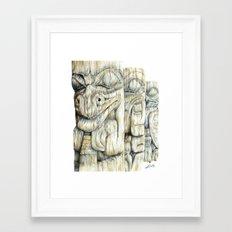 Haida Totems Framed Art Print