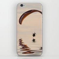 Powered paraglider iPhone & iPod Skin