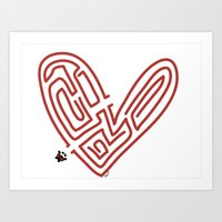 Labyrinth Of Love Art Print