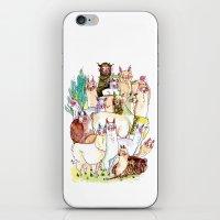 Wild family series - Llama Party iPhone & iPod Skin