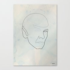 One line Spock Canvas Print
