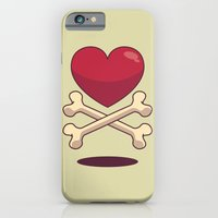 iPhone & iPod Case featuring bone up on love by freshinkstain