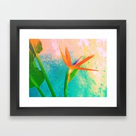 Framed Art Print featuring Exotic Flower Love by Die Farbenfluesterin