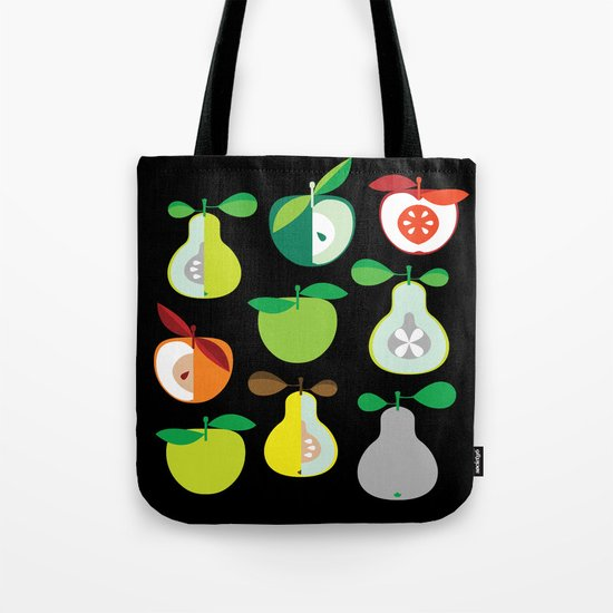 Apples and Pears / Geometrical 50s pattern of apples and pears Tote Bag