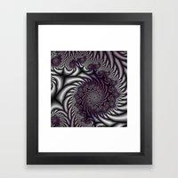 Purple And Gray Framed Art Print