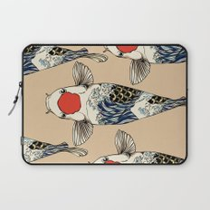 The Great Wave Of Koi Laptop Sleeve