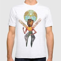 THE ANGEL GABRIEL Mens Fitted Tee Ash Grey SMALL