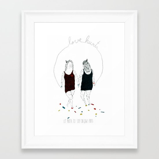 Love hurts... We prefer to step on Lego pieces Framed Art Print