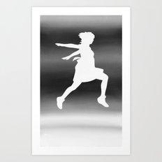 Body Movin - Jump BW Inverse Art Print