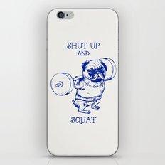 Pug Squat iPhone & iPod Skin