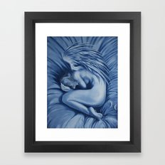 I want to stay in bed today Framed Art Print