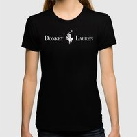 Donkey Lauren Womens Fitted Tee Black SMALL