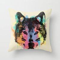 Wolf Child Throw Pillow