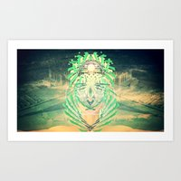 Future Pharaoh Series Part 2 Art Print