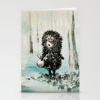 Hedgehog in the fog Stationery Cards