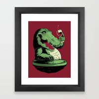 Party Croc Framed Art Print
